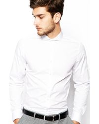 Asos Smart Shirt in Long Sleeve with Cutaway Collar - Lyst