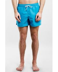 Topman Swim Trunks blue - Lyst