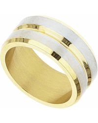 TOPSHOP - Groove Stainless Steel Ring - Lyst