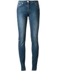 Roberto Cavalli Blue Skinny Jeans - Lyst