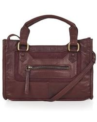 Topshop Suede and Leather Crossbody Bag - Lyst