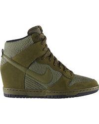 Nike Dunk Sky Hi Essential Green - Lyst