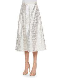Phoebe - Jacquard Midi Ball Skirt - Lyst