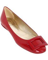 Roger Vivier 10Mm Gommette Patent Ballerina Flats - Lyst