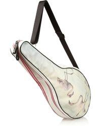 Monreal London - Flamingo Cotton-Canvas And Pvc Tennis Racket Bag - Lyst