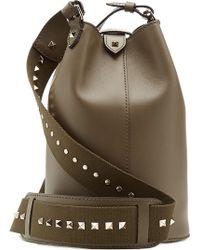 Valentino Leather Rockstud Shoulder Bag - Lyst
