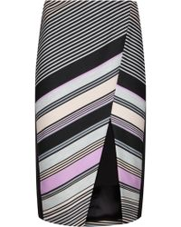 Ted Baker | Elowese Stripe Print Wrap Midi Skirt | Lyst