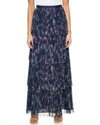 Marchesa Voyage - Pleated Column Skirt - Iris - Lyst