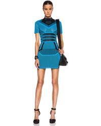 Alexander Wang Bi Color Mesh Tee Dress - Lyst