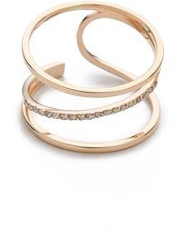Kismet by Milka - Lumiere Ring - Rose Gold - Lyst