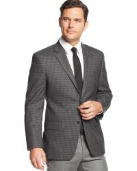 Michael Kors Michael Grey and Black Checked Sport Coat - Lyst