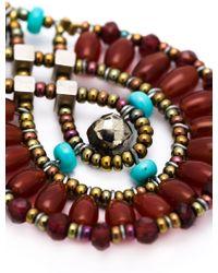 Ziio Beaded Drop Earrings - Multicolor