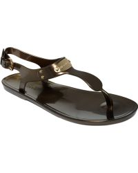 Michael Kors Michael Plate Jelly Sandals silver - Lyst
