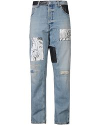 McQ by Alexander McQueen Blue Denim Pants - Lyst