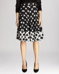 Karen Millen Skirt - Check Print Pleated - Lyst