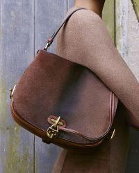 Ralph Lauren Calf Hair Saddle Shoulder Bag - Brown