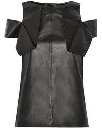 Vionnet Cutout Leather Top - Lyst