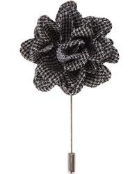 Lanvin - Houndstooth Flower Tie Pin - Lyst