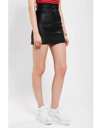 Tripp Nyc - Belted Vegan Leather Pencil Skirt - Lyst