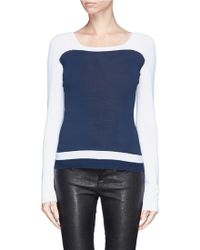 Armani Colourblock Knit Sweater - Lyst