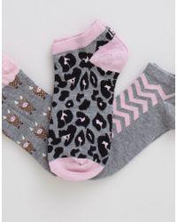 Pull&Bear Ankle Socks 3-Pack - Lyst