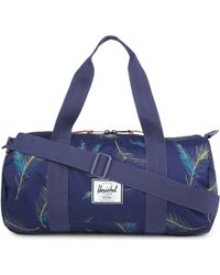 Herschel Supply Co. Sutton Feather-Print Canvas Duffle - Lyst