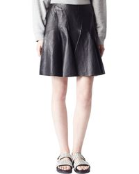 McQ by Alexander McQueen Leather Panelled Skirt - Lyst