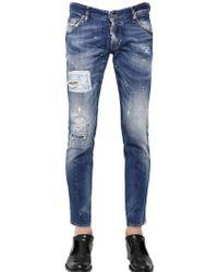 DSquared2 165cm Clement Orange Spot Wash Jeans - Lyst