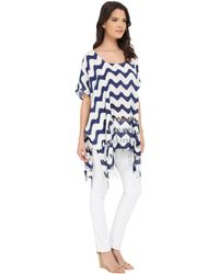 San Diego Hat Company - Bst1628 Scoop Neck Tunic With Side Seam And Fringed Hem - Lyst