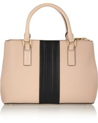Tory Burch Robinson Mini Two-Tone Leather Tote - Lyst