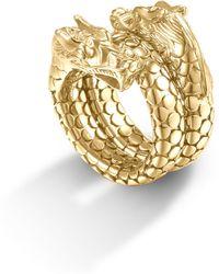 John Hardy 18k Gold Naga Head Coil Ring - Lyst