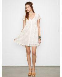 Denim & Supply Ralph Lauren Crocheted Button-front Dress - Lyst