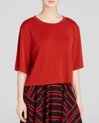 DKNY Cropped Tee red - Lyst