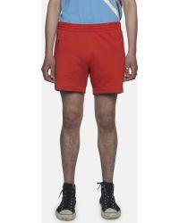 Gosha Rubchinskiy - Red Cotton-jersey Shorts - Lyst