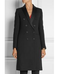 Gucci Double-breasted Satin-trimmed Stretch-wool Coat - Lyst