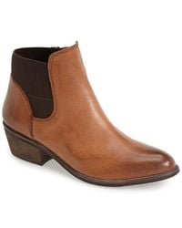 Steve Madden 'Rozamare' Leather Ankle Bootie - Lyst