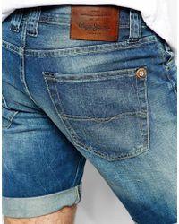 Pepe Jeans Cane Denim Shorts - Blue