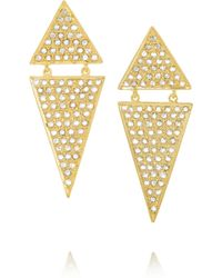 Halleh - 18-Karat Gold Diamond Triangle Earrings - Lyst