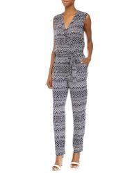 Diane von Furstenberg Rawena Printed Sleeveless Jumpsuit - Lyst