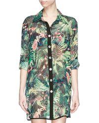 We Are Handsome Jungle Fever' Tropics Print Silk Shirt - Lyst