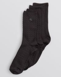 Ralph Lauren Blue Label Cable Trouser Super Soft Socks Set Of 2 - Lyst