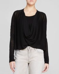 Eileen Fisher Cascading Front Cardigan - The Fisher Project - Lyst