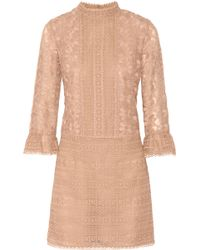 Anna Sui Embroidered Organza Dress - Lyst