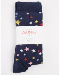Cath Kidston - Scattered Stars and Clifton Rose 2 Pack Socks - Lyst