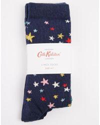 Cath Kidston Scattered Stars and Clifton Rose 2 Pack Socks - Multicolour