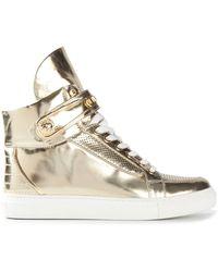 Versus  Metallic Hi-Top Sneakers - Lyst