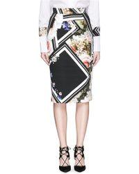 Preen | 'nour' Floral Border Print Cotton Pencil Skirt | Lyst