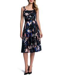 Cynthia Steffe Sleeveless Gardenprint Midi Dress - Lyst