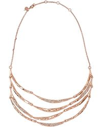 Alexis Bittar - Rose Goldtone Crystal Tiered Bib Necklace - Lyst