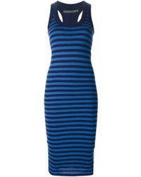 Enza Costa Striped Fitted Dress - Lyst